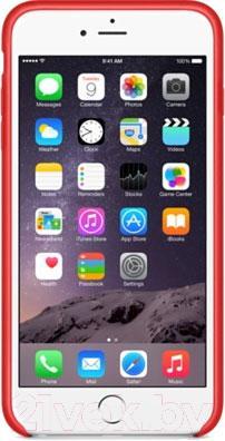 Чехол-накладка Apple iPhone 6 Plus Leather Case MGQY2 (красный) - вид спереди