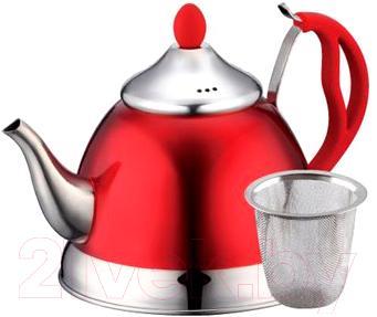 Заварочный чайник Peterhof PH-15582 (красный) - общий вид