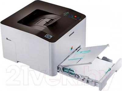 Принтер Samsung SL-C1810W - с открытым лотком