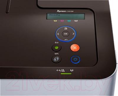 Принтер Samsung SL-C1810W - элементы управления