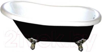 Ванна чугунная Goldman Bristol 170x76 (черный) - общий вид