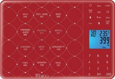 Кухонные весы Scarlett IS-565 (бордовый) - общий вид
