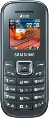 Мобильный телефон Samsung E1202 (серый) - общий вид