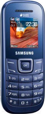 Мобильный телефон Samsung E1202 (синий) - вполоборота