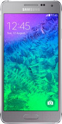 Смартфон Samsung G850F Galaxy Alpha (серебристый) - общий вид