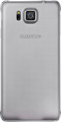 Смартфон Samsung G850F Galaxy Alpha (серебристый) - вид сзади