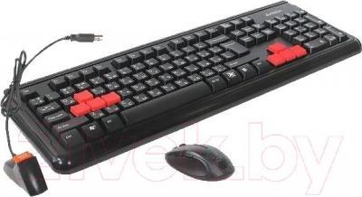 Клавиатура+мышь A4Tech RV1000 (Black) - общий вид
