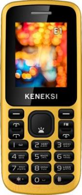 Мобильный телефон Keneksi E1 (желтый) - общий вид