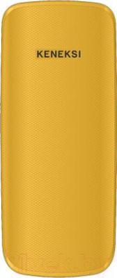 Мобильный телефон Keneksi E1 (желтый) - вид сзади