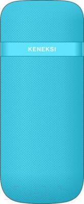 Мобильный телефон Keneksi E2 (голубой) - вид сзади