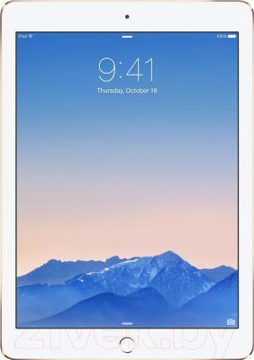 Планшет Apple iPad Air 2 16Gb 4G / MH1C2TU/A (золото) - фронтальный вид