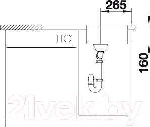 Мойка кухонная Blanco Lantos 45 S-IF Compact / 519059