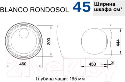 Мойка кухонная Blanco Rondosol / 513306