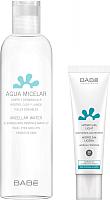 Набор косметики для лица Laboratorios Babe Мицеллярная вода Увлажнение и защита+Увлажняющий крем SPF20 (250мл+50мл) -