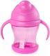 Поильник Happy Care С силиконовой трубочкой / 0122 (розовый) -