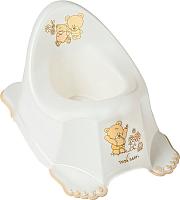 Детский горшок Tega Мишки / MS-013-118 (белый жемчуг) -