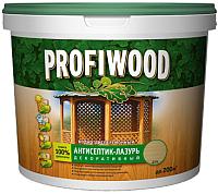 Защитно-декоративный состав Profiwood Антисептик-лазурь (900мл, тиковое дерево) -