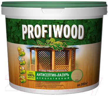 Защитно-декоративный состав Profiwood Антисептик-лазурь (900мл, тиковое дерево)