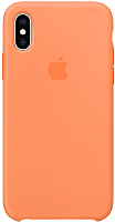 Чехол-накладка Apple Silicone Case для iPhone XS Papaya / MVF22 -