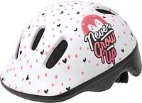 Защитный шлем Polisport Hoggy 44/48 / 8740200048 (белый/розовый) -
