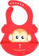 Нагрудник детский Happy Care Веселый зоопарк / 20018 (красный) -