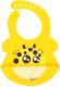 Нагрудник детский Happy Care Веселый зоопарк / 20018 (желтый) -