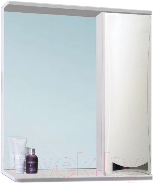 Купить Шкаф с зеркалом для ванной Vako, Бант 55 / 16501 (с подсветкой), Россия