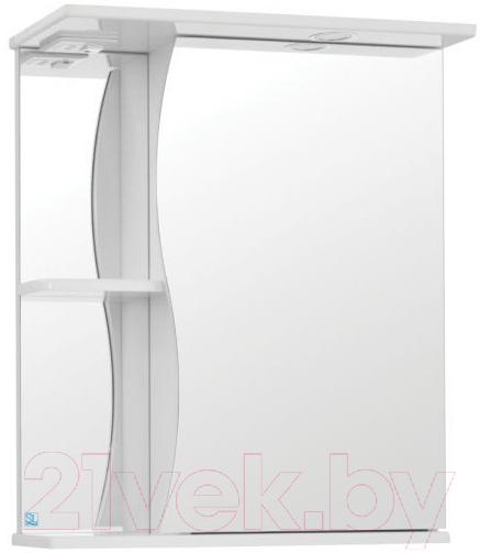 Купить Шкаф с зеркалом для ванной Акваль, Волна 600 L / 10225, Беларусь