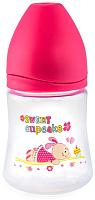 Бутылочка для кормления Happy Care Sweet baby / 47588 (150мл, розовый) -