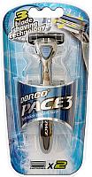 Бритвенный станок Dorco Pace 3 + 2 кассеты -