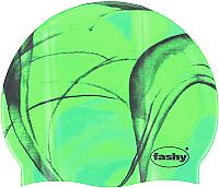 Шапочка для плавания Fashy Silicone Cap / 3031-00-60 (зеленый/черный) -