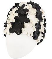 Шапочка для плавания Fashy Petal Cap Flowers / 3191-22 (белый/черный) -