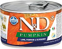 Корм для собак Farmina N&D Grain Free Pumpkin Lamb & Blueberry Mini (140г) -