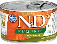 Корм для собак Farmina N&D Grain Free Pumpkin Duck Mini (140г) -