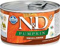 Корм для собак Farmina N&D Grain Free Venison & Pumpkin Mini (140г) -