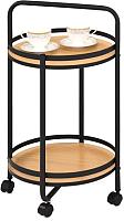 Сервировочный столик Halmar BAR11 (дуб натуральный/черный) -