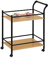 Сервировочный столик Halmar Bar-12 (дуб натуральный/черный) -