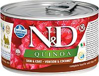 Корм для собак Farmina N&D Grain Free Quinoa Venison & Coconut Mini (140г) -