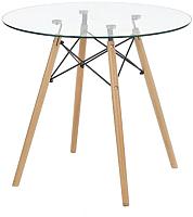 Обеденный стол Halmar Berus (стекло/бук) -