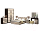 Комплект мебели для спальни Ricco Сакура Лайт (венге/дуб атланта) -