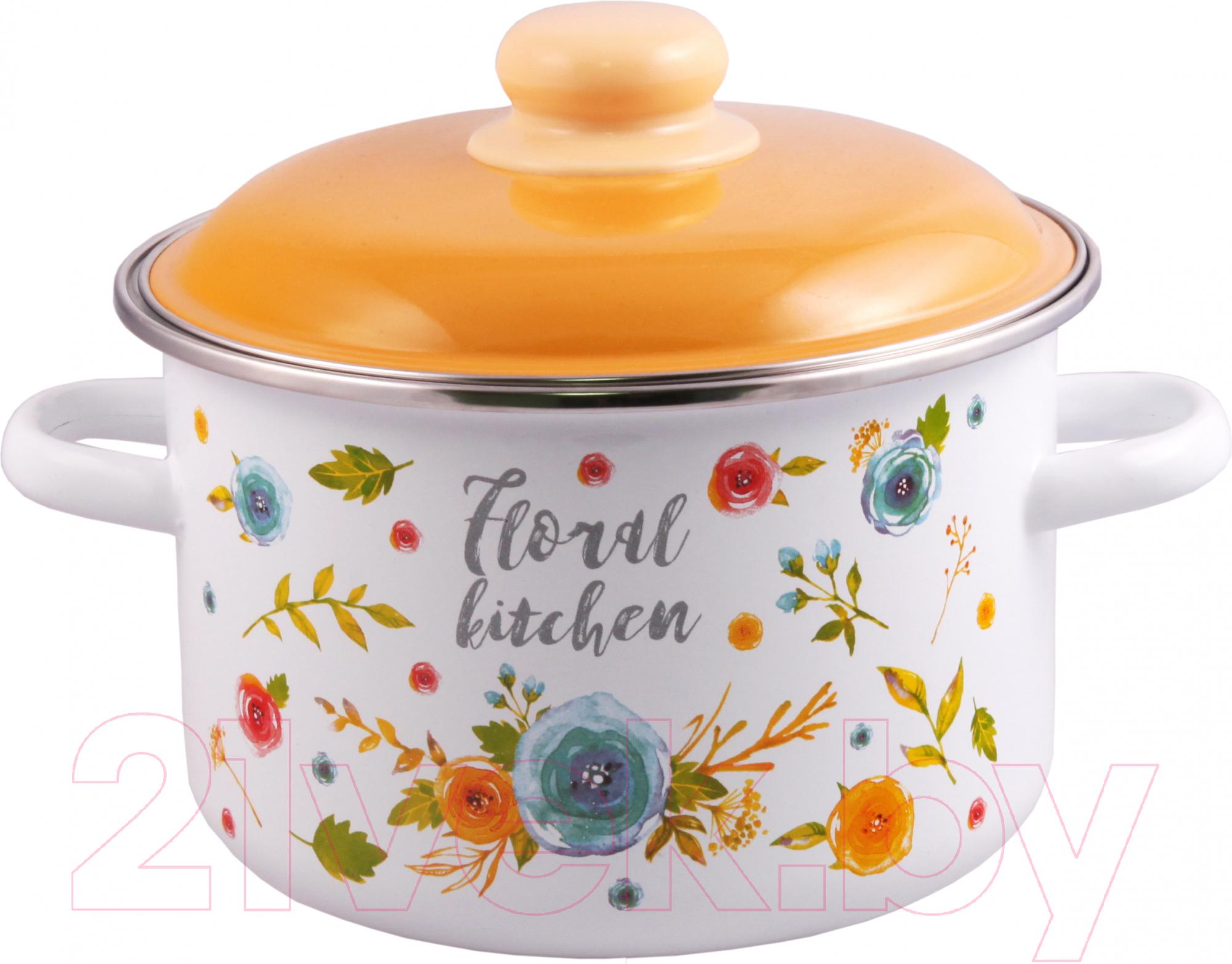 Купить Кастрюля Appetite, Floral Kitchen 6RD221M, Россия