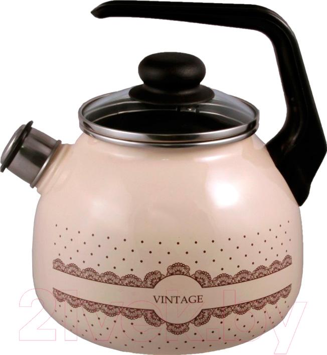 Купить Чайник со свистком Appetite, Vintage 4с209я, Россия, коричневый