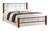 Полуторная кровать Halmar Viera 120х200 (черешня античная/черный) -