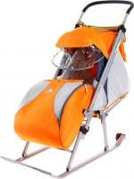 Санки-коляска Ника НД4 (оранжевыe) -