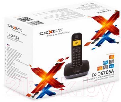 Беспроводной телефон Texet TX-D6705A (черный) - упаковка
