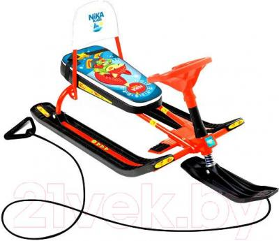 Снегокат детский Ника Тимка спорт 4-1. Лисёнок / ТС4-1 (оранжевый каркас) - общий вид