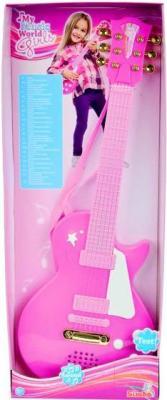 Музыкальная игрушка Simba Детская рок-гитара / 10 6830693 (розовый) - упаковка