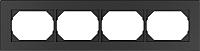 Рамка для выключателя Vilma 4779101517040 (антрацит) -