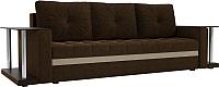 Диван Mebelico Атланта М 2 стола / 100109 (вельвет, коричневый) -