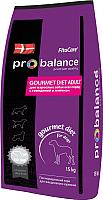 Корм для собак ProBalance Gourmet Diet Adult с говядиной и ягненком (15кг) -